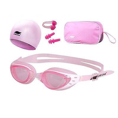 Équipement de natation hommes et femmes HD lunettes anti-buée ensemble Silicone imperméable bonnet de natation natation quatre ensembles