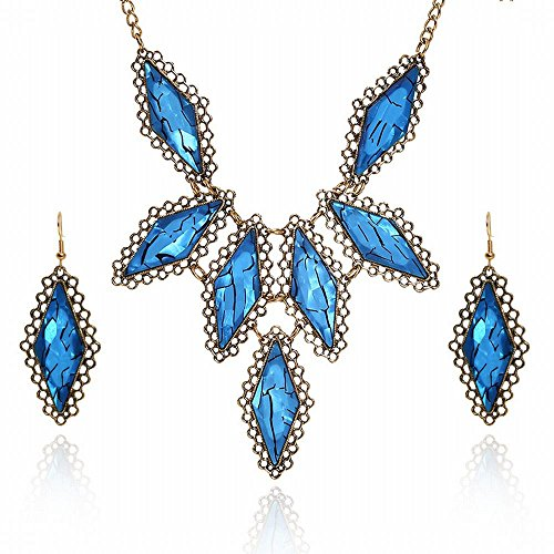 Prism Iced - JIN Europe, the United States exaggerated necklace geometric prism alloy plate set of ornaments Pendant Necklace For Womens