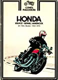 Honda Motorcycle Repair Service Handbook Manual All 750cc Models 1969 - 1974
