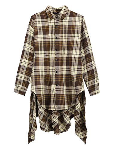 COOFANDY Mens Fashion Casual Long Sleeves Hipster Hip Hop Button up Plaid Long ()