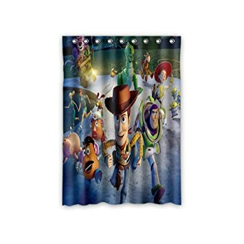 ScottShop Toy Story Custom Comfort Polyester Fabric Panels/Bedroom Decor  Curtain 52 U0026quot;x