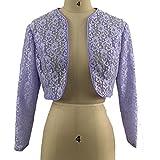 Flybridal Lace Bolero Shrug With Long Sleeve Cardigan Shrug 12 Lavender