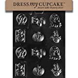 Dress My Cupcake DMCH006 Chocolate Candy Mold, Assorted with Boo, Halloween