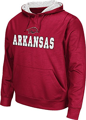Arkansas Razorbacks Mens Surge Synthetic Pullover Hoodie by Colosseum (X-Large)