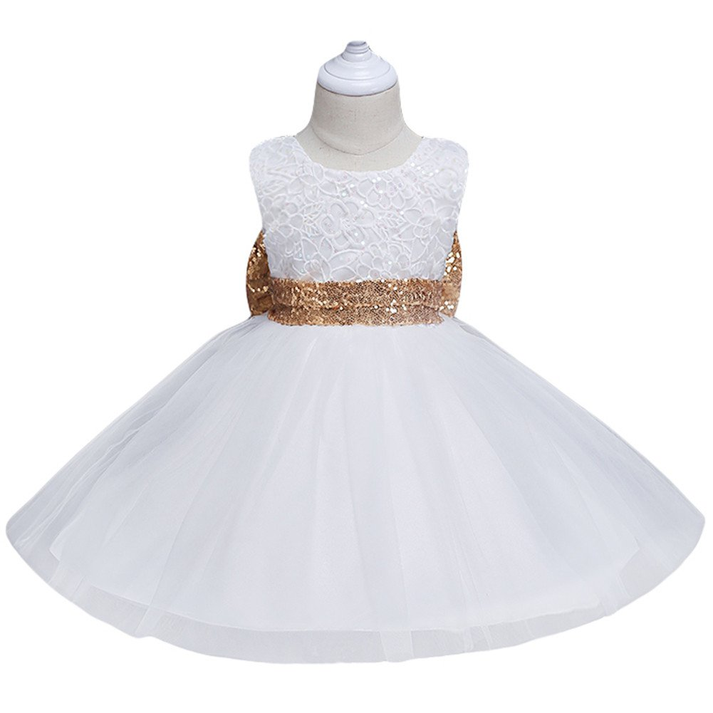 d73331bbf33ad JiaDuo Baby Girl Lace Mesh Tutu Dress Sequin Bow Toddler Princess ...