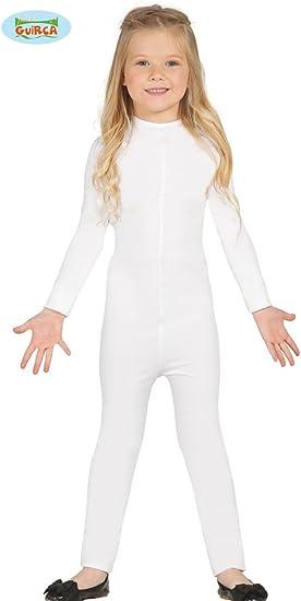Disfraz de Maillot infantil blanco 9-12 años super-elástico ...