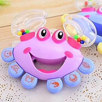 Gift Crab Shaking Musical Instrument Kids Handbell Jingle Rattle Toy