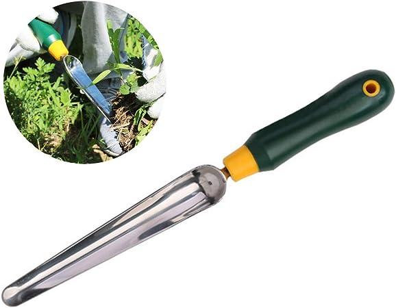 Einsgut Cortador de maleza con Mango de Madera, Acero Inoxidable/Madera, Pala trituradora de jardín para desmalezar Granja de jardín: Amazon.es: Hogar