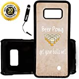 Custom Galaxy Note 8 Case (Funny Beer Pong Quote) Edge-to-Edge Plastic Black Cover Ultra Slim | Lightweight | Includes Free Mini Stylus Pen by Innosub