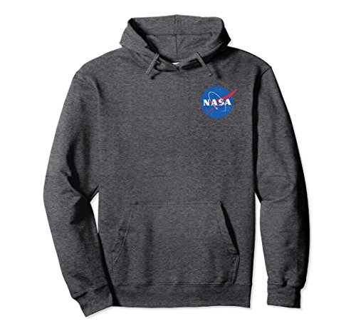 Unisex The official NASA Insignia Hoodie 2XL Dark (Adult Nasa Flight Suit)