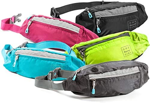 Fanny Packs for Women - Slim Yet Spacious Waist Pack w  Multiple  Compartments and Headphone Cord Access - Lightweight Fannie Hip Bag Great  for Hiking 18041c2a57cc7