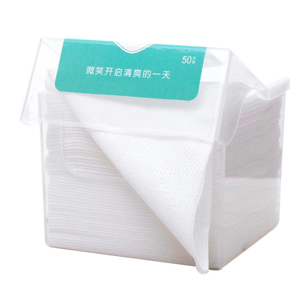 AKAAYUKO 2 * 50 Pezzi Dischetti Struccanti Cotone Pulizia del Viso Trucco Facciale Cotone Pads MZGJ-131-2PCS