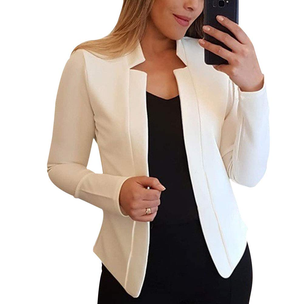 Red Pink Yellow Solid Color Office Lady Suit Coat Black White PerGrate Womens Thin Long-Sleeved Blazer