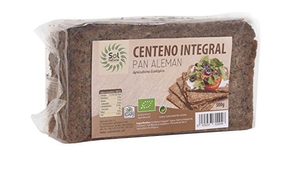 Sol Natural Pan Aleman de Centeno - Paquete de 12 x 500 gr - Total: 6000 gr: Amazon.es: Alimentación y bebidas