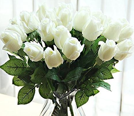 10 Hermosas Flores Artificiales Para Decoración De Hogar Boda Fiesta Salón Arreglo Floral Hecho De Látex Regalo De Navidad