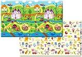 Dwinguler Large Eco-Friendly Kids Play Mats - Designer Collection (FairyLand)