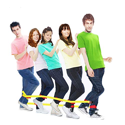 Race Bands - Sonyabecca Cooperative Band Walker 5-Legged Race Band Set Game Teamwork Training for Children Adult Pack of 2