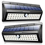 URPOWER Solar Lights, 44 LED Waterproof Motion Sensor Lights Outdoor Wireless Solar Powered Wall Light Motion Activated Auto On/Off Solar Security Lights Outdoor for Fence Patio Deck Yard Cool White