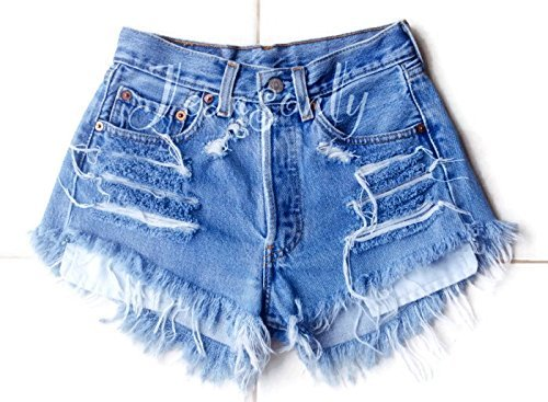 ad30dfad Levis high waisted denim shorts distressed frayed jean shorts by Jeansonly