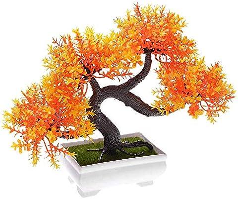 LABAICAI Mini árbol Artificial plástico Topiario Planta Maceta decoración del hogar Accesorios de jardín for casa (Color : XHO): Amazon.es: Hogar