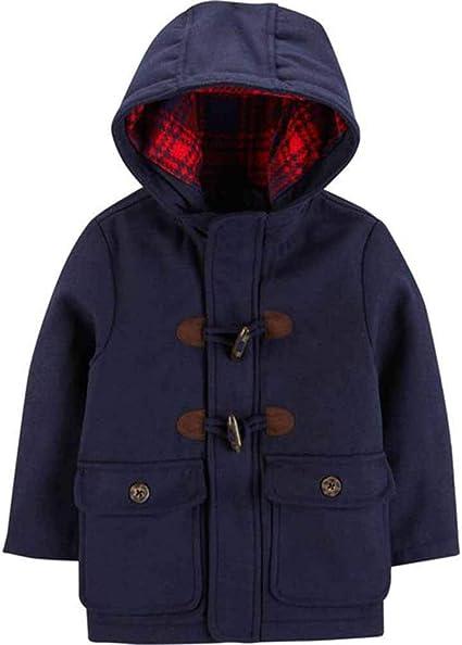 Carter/'s Boys Navy Faux Wool Pea Coat Size 4 5//6 7