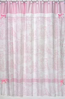 Superior Pink French Toile Kids Bathroom Fabric Bath Shower Curtain By Sweet Jojo  Designs