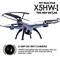 Cheerwing Syma X5HW-I FPV 2.4Ghz 4CH RC Headless Quadcopter Drone UFO with Hover Function HD Wifi Camera from Syma