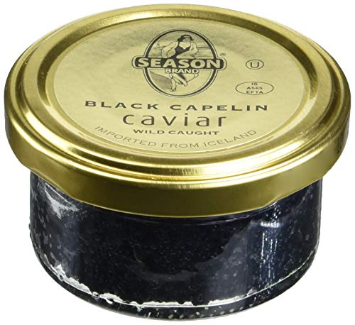 Season Black Capelin Caviar (2 Ounce) 2 Pack (Golden Whitefish Caviar)