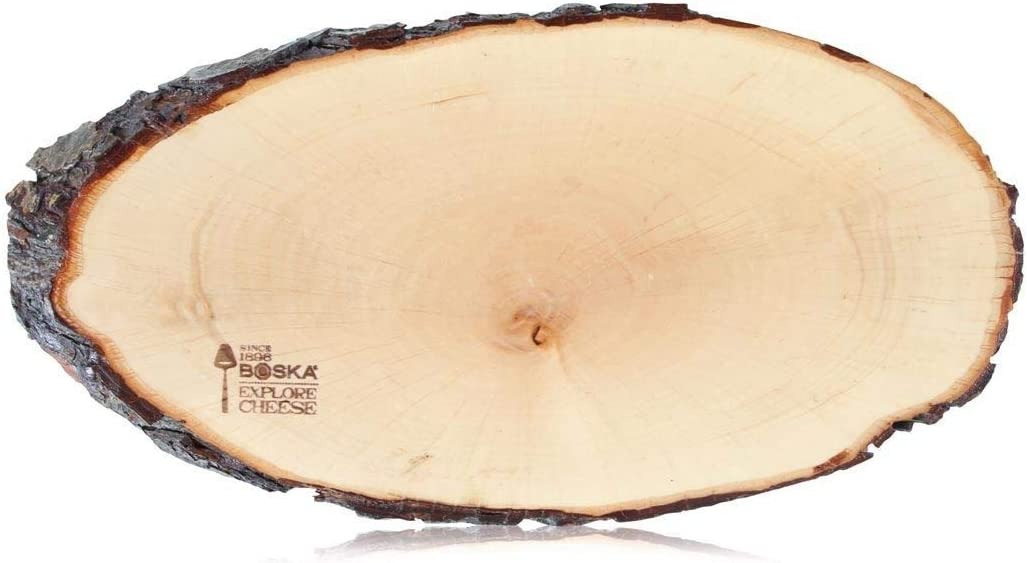 Boska Holland Cheese Board, European Ash Wood w. Polished Surface, Natural Bark, 10