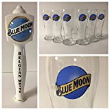 Blue Moon Brewing Co. Draft Kit - 6 16oz Glasses - 1 Tap