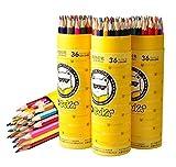 APAS 36 Colored Pencil Set for Adult Coloring Books