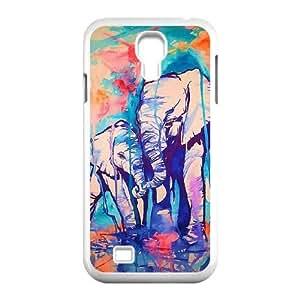 Samsung Galaxy S4 I9500 Phone Cases White Elephant Pattern BVX737736