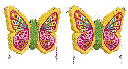 Set of 2 Unique Industries Butterfly Pinata bundled by Maven -