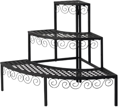 Tierra Garden 39-110367N 3-Tier End Cap Plant Stand, (3 Side End Caps)