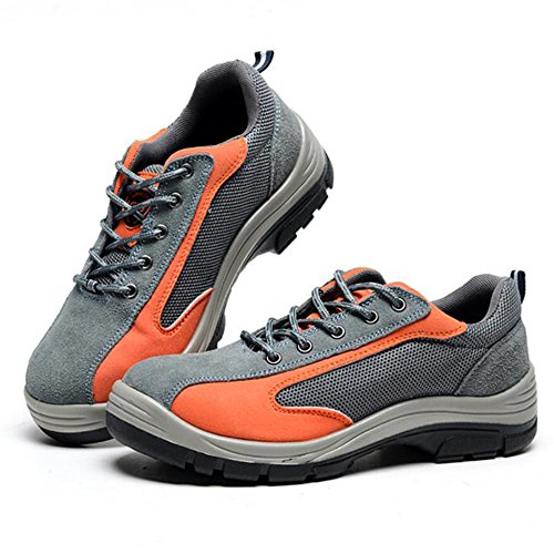 Comp Gray Shoes Work Toe Orange Optimal Men's Shoes Steel Shoes Safety FTxxOwAqZ