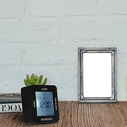 Apellin - Reloj Despertador Digital Moderno Multifuncional con Pantalla Grande con retroiluminación, Mesa de casa