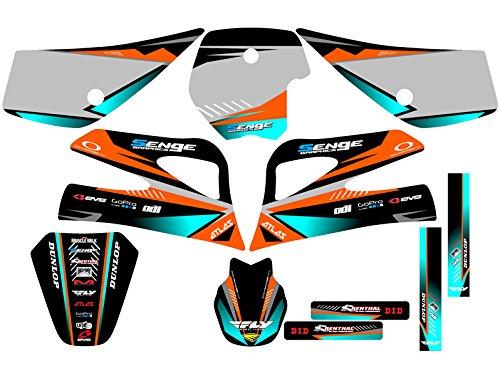 センジグラフィックス1998 – 2001 KTM SX 50、サージオレンジグラフィックキット   B074CKDN1G