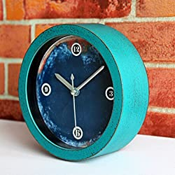 Usany 4.7 Round Retro Vintage Silent Non-ticking Desk Clocks Antique Table Clock Desktop Clock Home Decoration Alarm Clock Timepieces