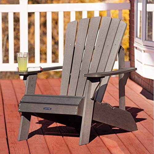 Lifetime Faux Wood Adirondack Chair Gray 60204 Chairs