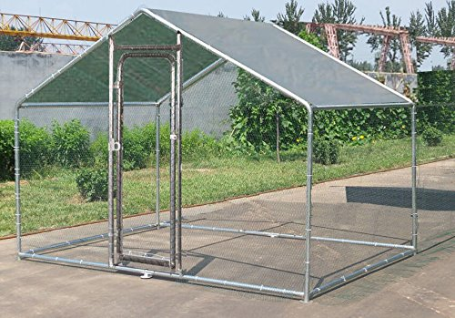 ChickenCoopOutlet-Deluxe-Large-Metal-7x10-ft-Chicken-Coop-Backyard-Hen-House-Cage-Run-Outdoor-Cage