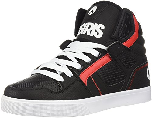 Osiris Mens Clone Skate Shoe Black/Black/Red 881n4Ds