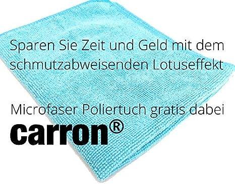 Carron® Cristal sellado con PTFE de 2 para ducha pared de acrílico de cristal contra la cal y suciedad, con gamuza, también para cabina de ducha, ducha,