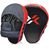 Xnature Essential Curved Boxing MMA Punching Mitts Boxing Pads Hook & Jab Pads MMA Target Focus Punching Mitts Thai Strike Kick Shield