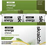 Skratch Labs Sport Energy Chews Matcha Green Tea and Lemon - Box of 10 Pouches