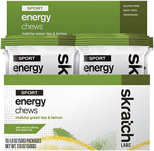 SKRATCH LABS Matcha Green Tea & Lemon Sport Energy Chews 10 Count, 1.8 OZ ()