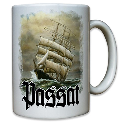 Passat Sailboat four-masted steel barque Flying P-Liner ship freighter Marine Germany - Coffee Cup Mug
