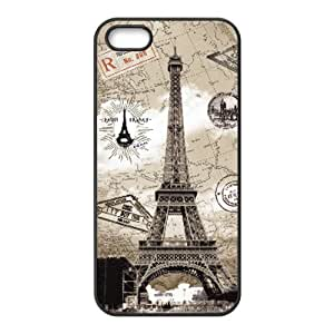 Popular Colorful HD pattern Eiffel Tower iPhone 5 5s cover
