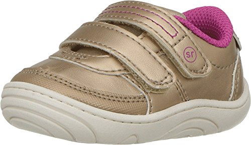 Stride Rite Baby Girl's Kyle (Infant/Toddler) Champagne Shoe (Rite Girls Stride Size Shoe 5)