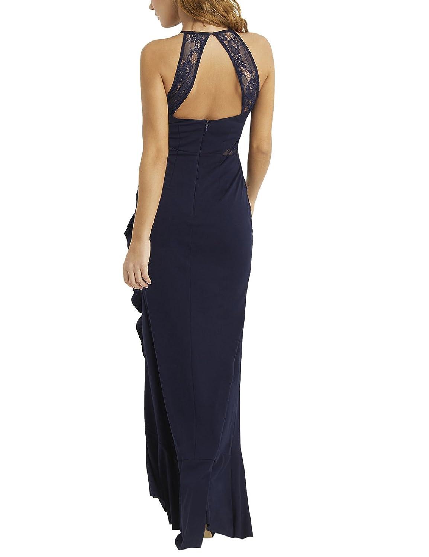 LIPSY Womens Halterneck Frill Skirt Maxi Dress at Amazon Womens Clothing store: