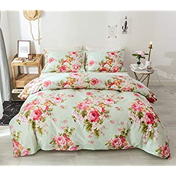 Grey /& Pink Floral Duvet Cover Set Canterbury Reversible Grey Spot Bedding